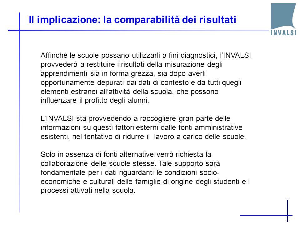 II implicazione: la comparabilità dei risultati