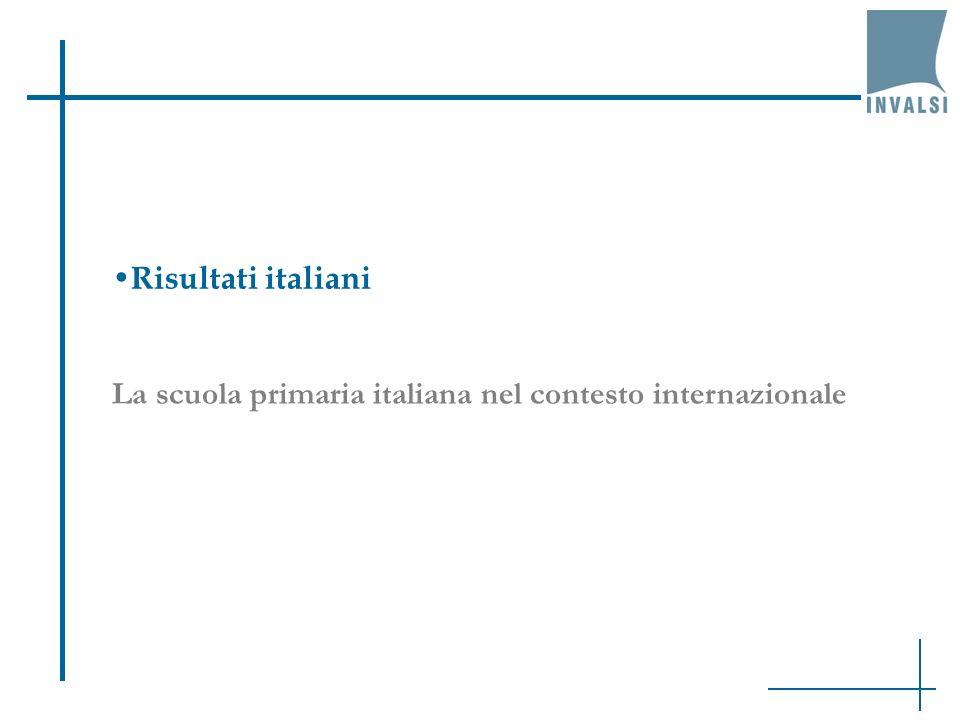 La scuola primaria italiana nel contesto internazionale