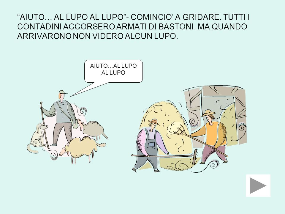 AIUTO… AL LUPO AL LUPO - COMINCIO' A GRIDARE