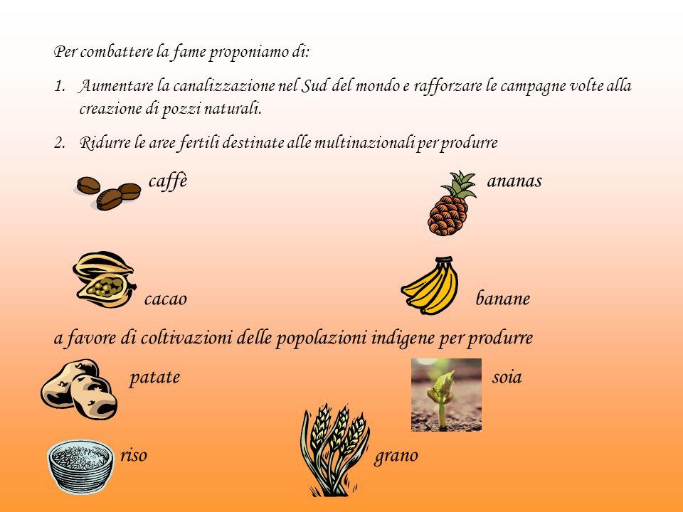 a favore di coltivazioni delle popolazioni indigene per produrre