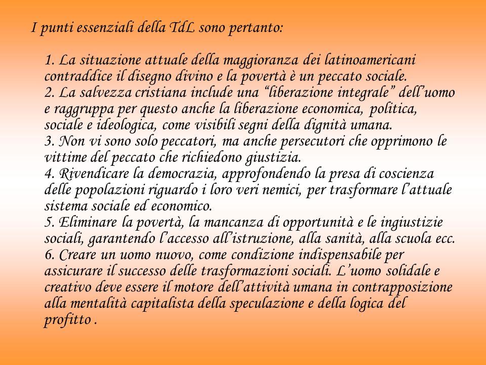 I punti essenziali della TdL sono pertanto: 1
