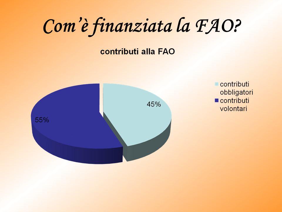 Com'è finanziata la FAO