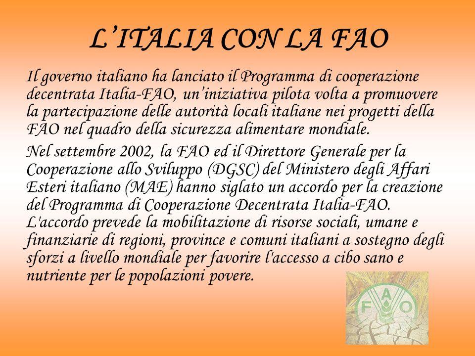 L'ITALIA CON LA FAO