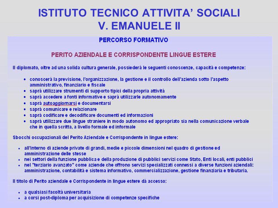 ISTITUTO TECNICO ATTIVITA' SOCIALI V. EMANUELE II