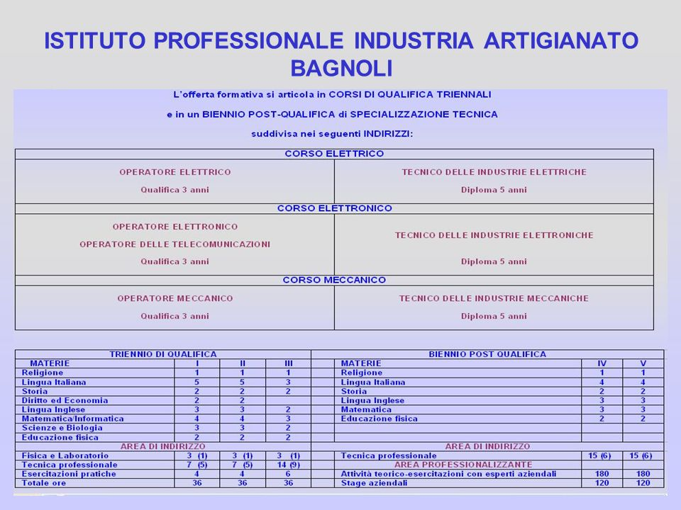 ISTITUTO PROFESSIONALE INDUSTRIA ARTIGIANATO BAGNOLI