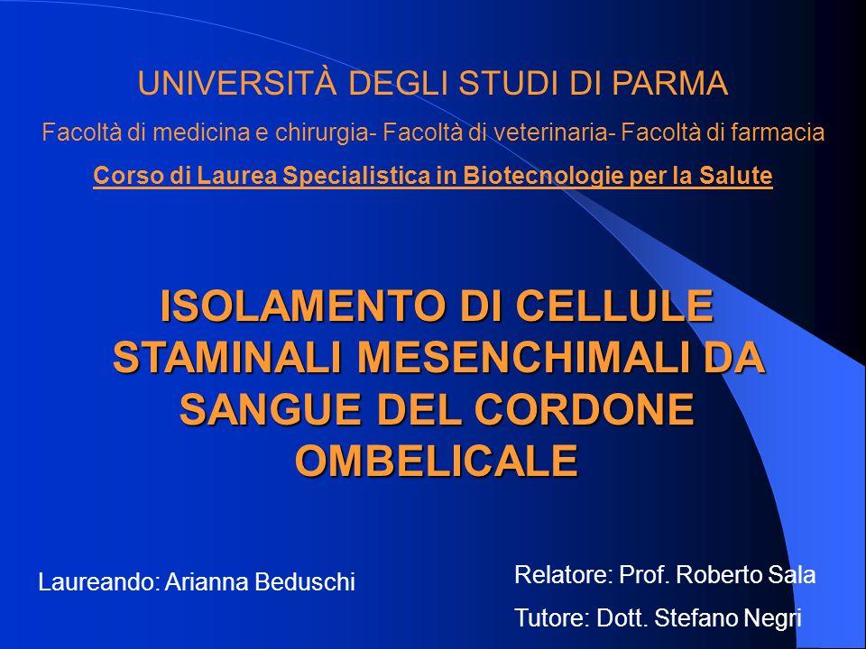 Corso di Laurea Specialistica in Biotecnologie per la Salute