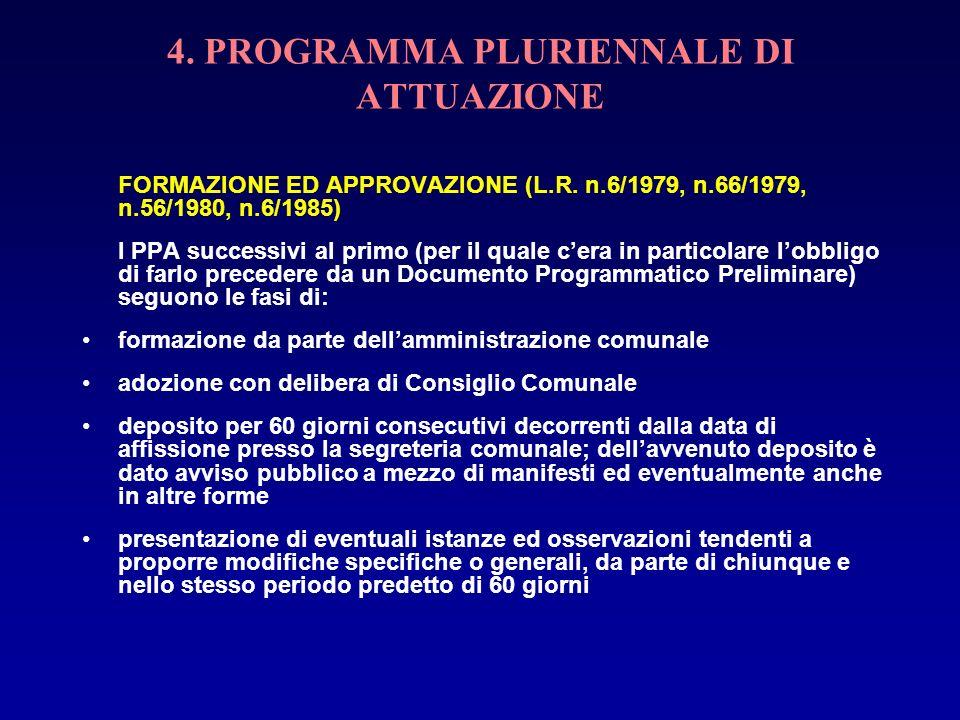 4. PROGRAMMA PLURIENNALE DI ATTUAZIONE
