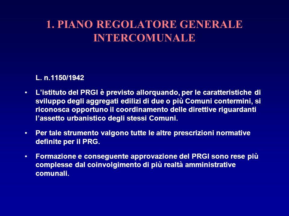 1. PIANO REGOLATORE GENERALE INTERCOMUNALE