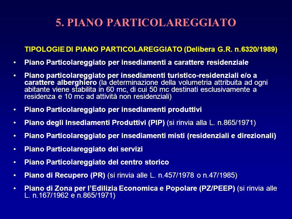 5. PIANO PARTICOLAREGGIATO