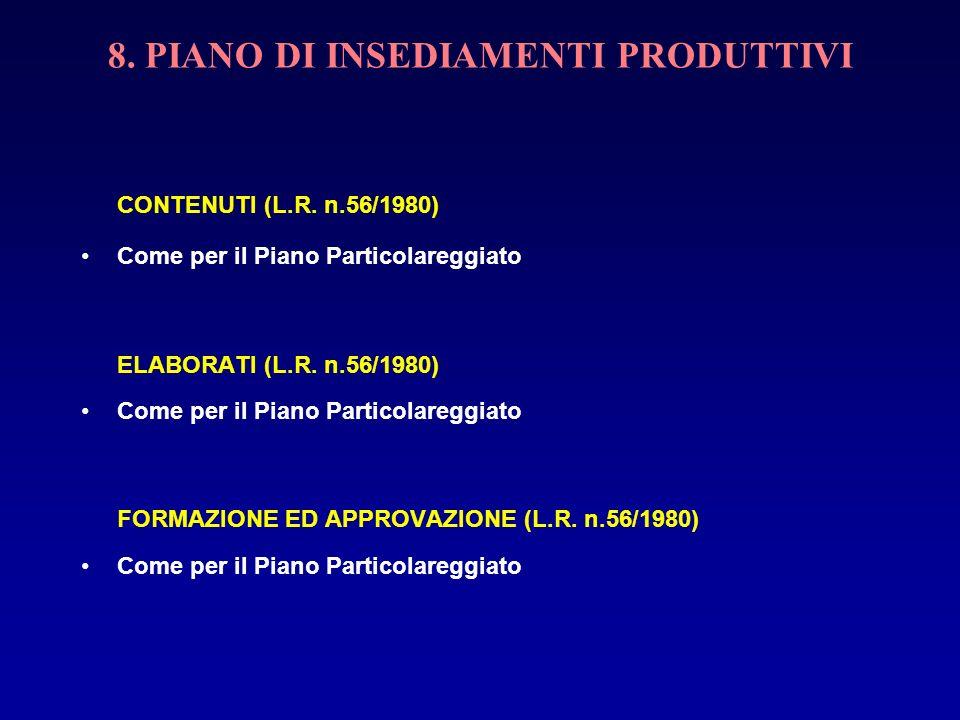 8. PIANO DI INSEDIAMENTI PRODUTTIVI