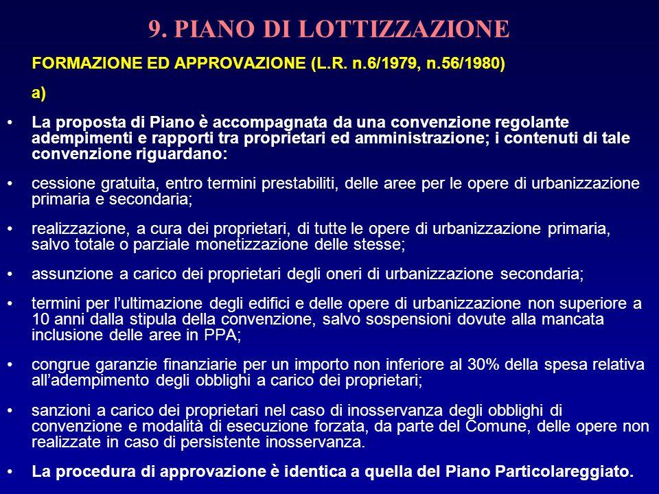 9. PIANO DI LOTTIZZAZIONE