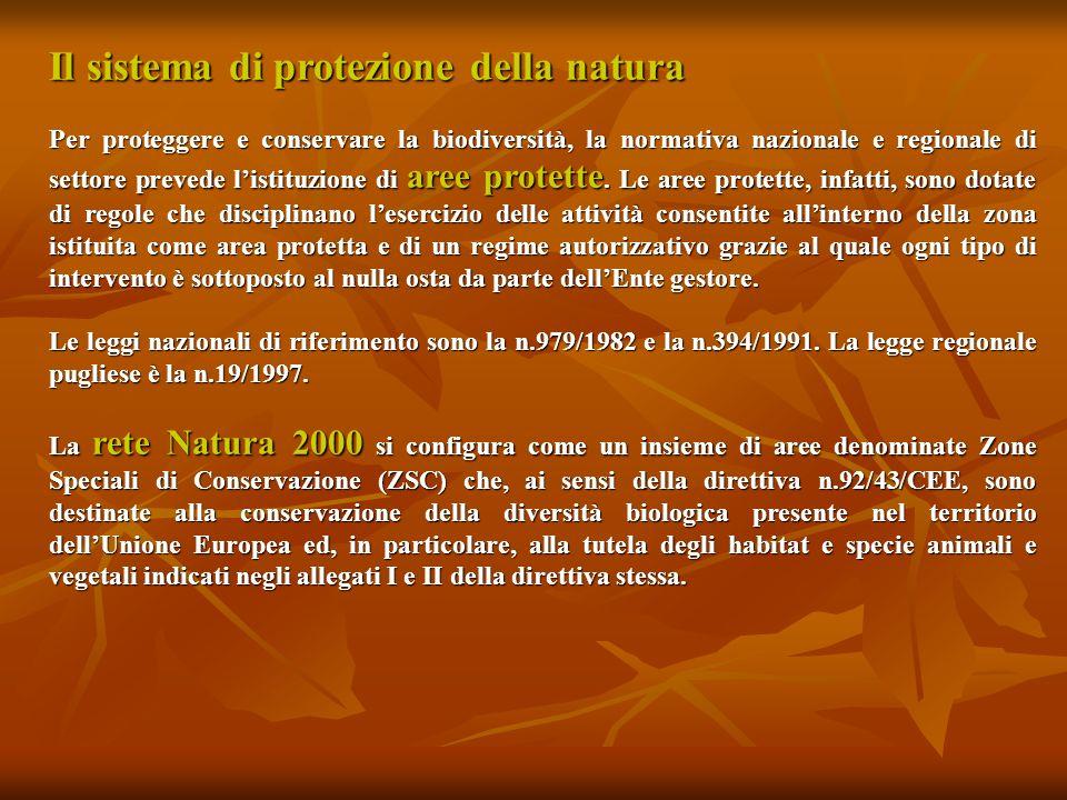 Il sistema di protezione della natura