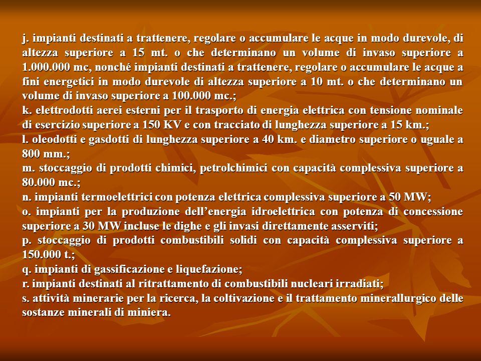 q. impianti di gassificazione e liquefazione;