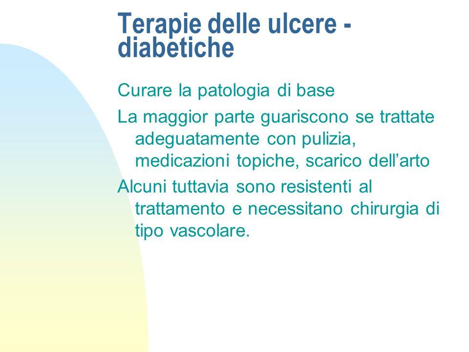 Terapie delle ulcere - diabetiche
