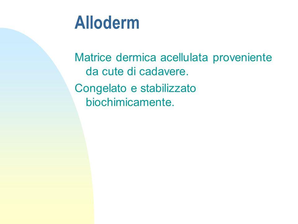 Alloderm Matrice dermica acellulata proveniente da cute di cadavere.