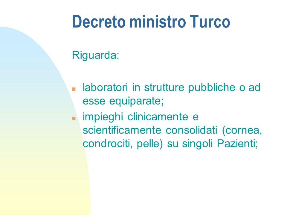 Decreto ministro Turco