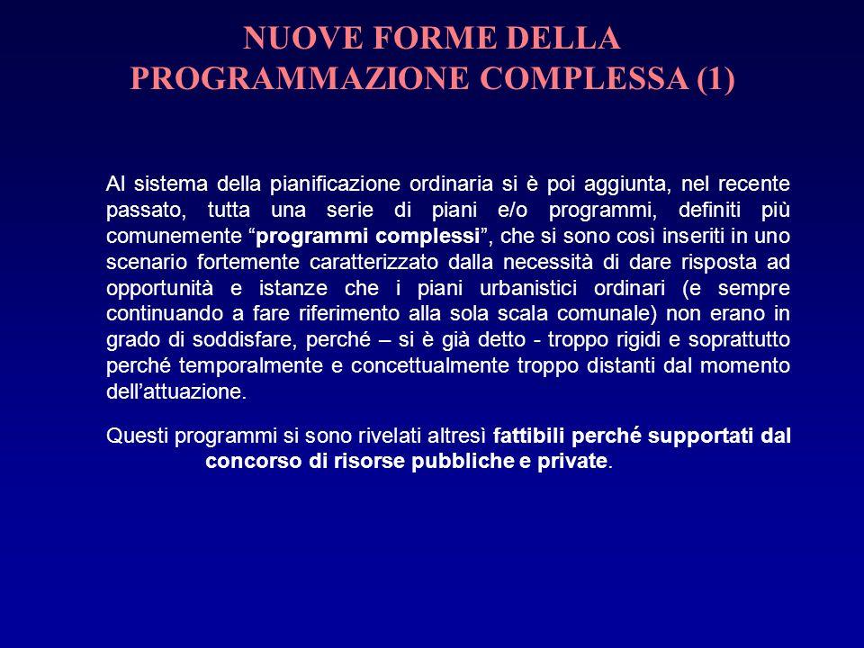 NUOVE FORME DELLA PROGRAMMAZIONE COMPLESSA (1)