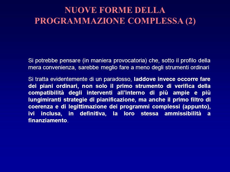 NUOVE FORME DELLA PROGRAMMAZIONE COMPLESSA (2)