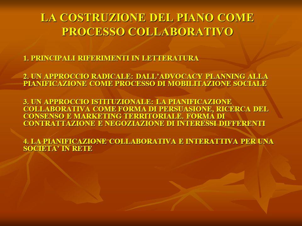 LA COSTRUZIONE DEL PIANO COME PROCESSO COLLABORATIVO