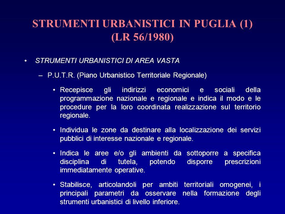 STRUMENTI URBANISTICI IN PUGLIA (1) (LR 56/1980)