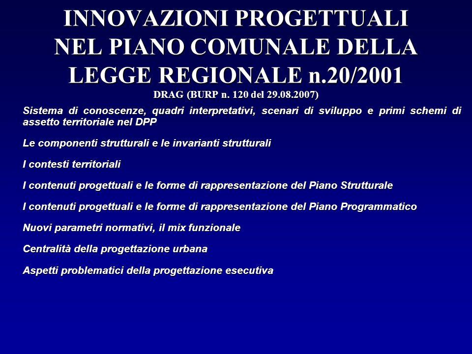 INNOVAZIONI PROGETTUALI NEL PIANO COMUNALE DELLA LEGGE REGIONALE n