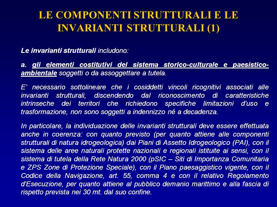 LE COMPONENTI STRUTTURALI E LE INVARIANTI STRUTTURALI (1)