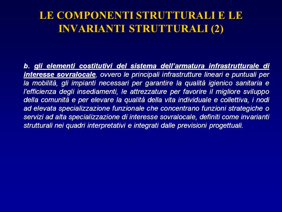 LE COMPONENTI STRUTTURALI E LE INVARIANTI STRUTTURALI (2)