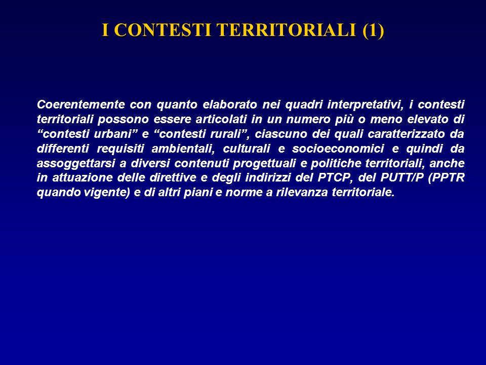 I CONTESTI TERRITORIALI (1)