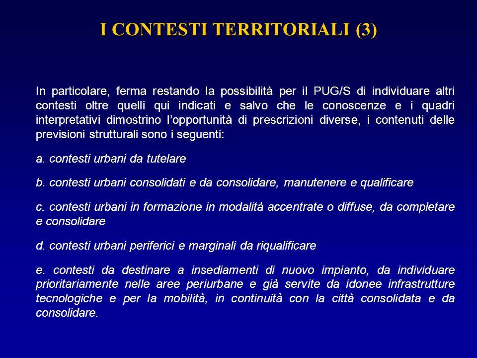 I CONTESTI TERRITORIALI (3)