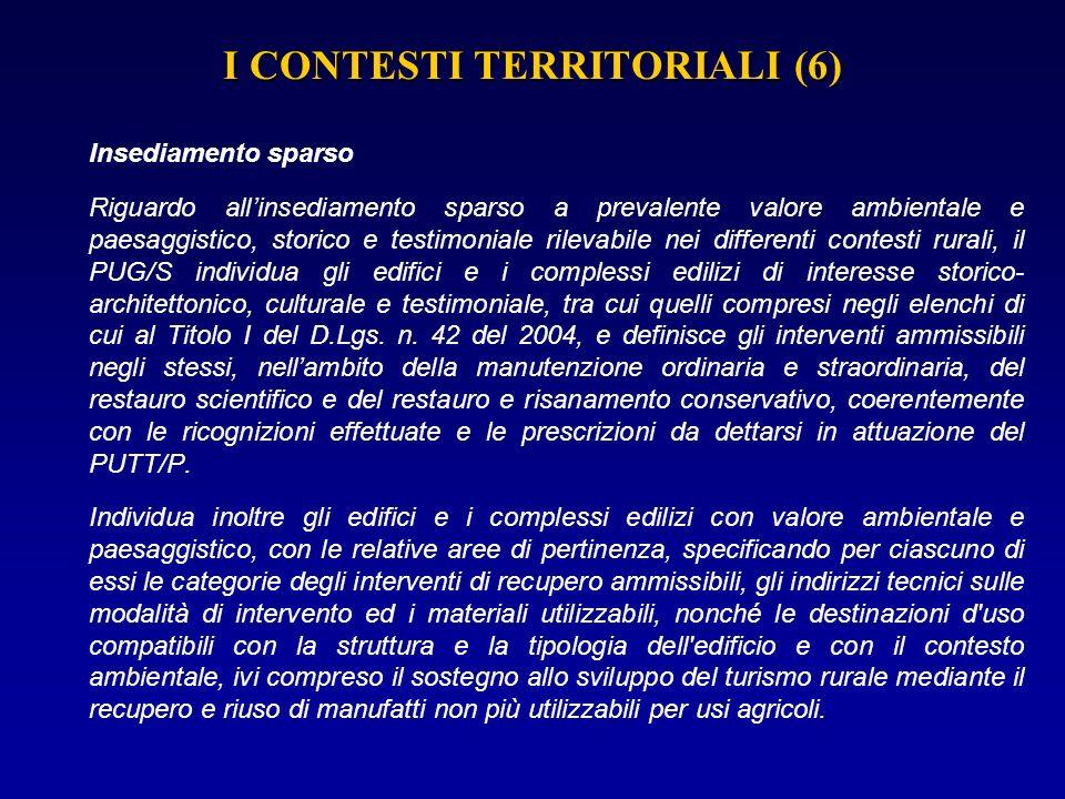 I CONTESTI TERRITORIALI (6)