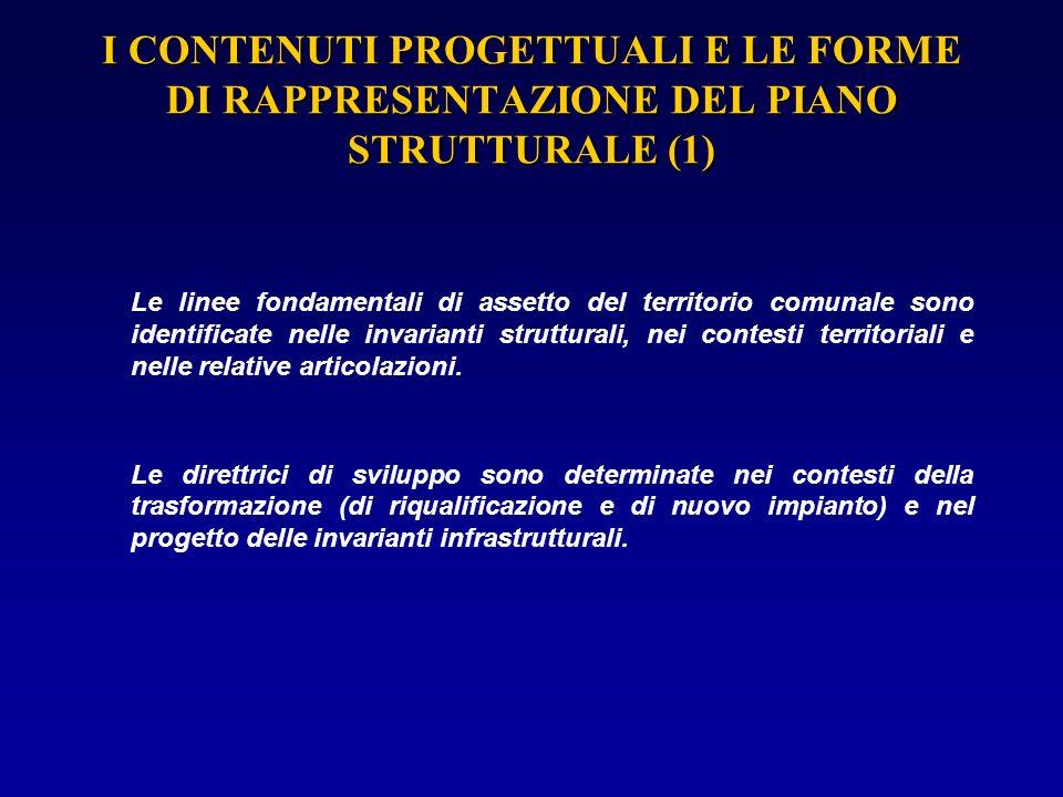 I CONTENUTI PROGETTUALI E LE FORME DI RAPPRESENTAZIONE DEL PIANO STRUTTURALE (1)