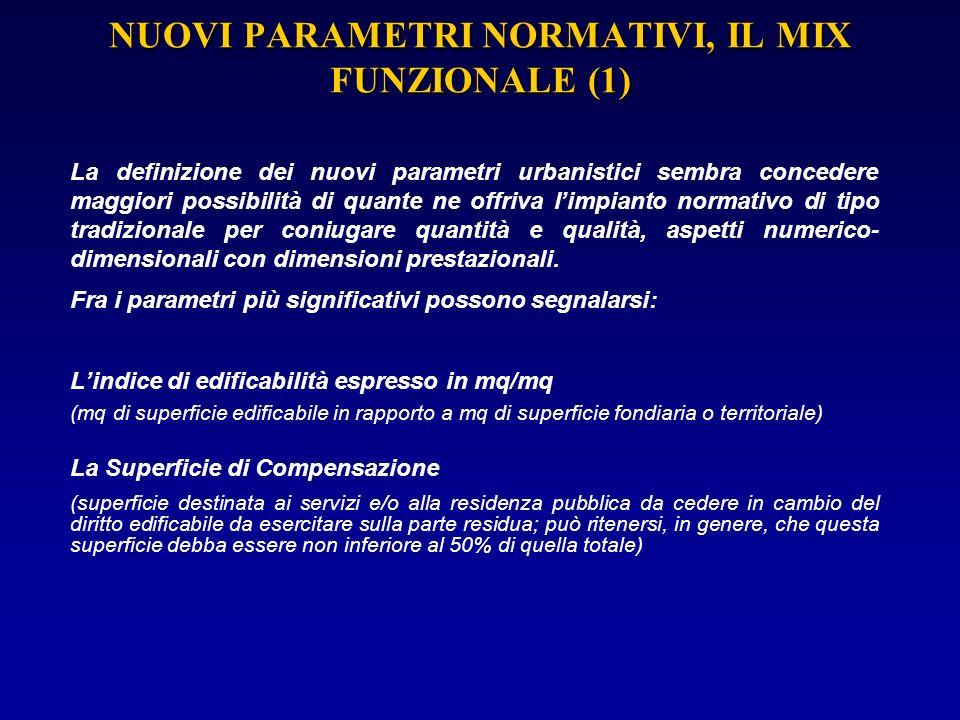 NUOVI PARAMETRI NORMATIVI, IL MIX FUNZIONALE (1)