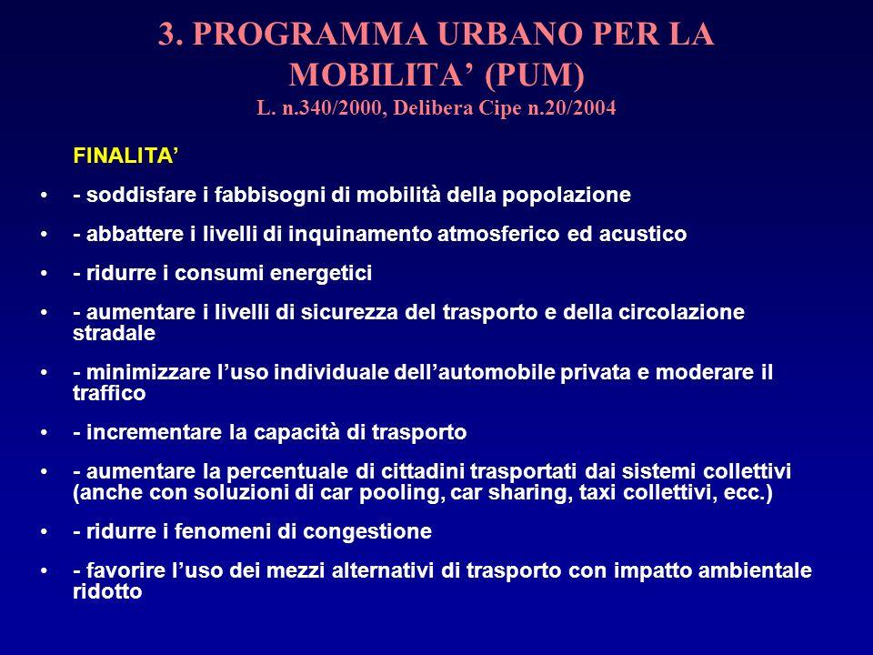 3. PROGRAMMA URBANO PER LA MOBILITA' (PUM) L. n