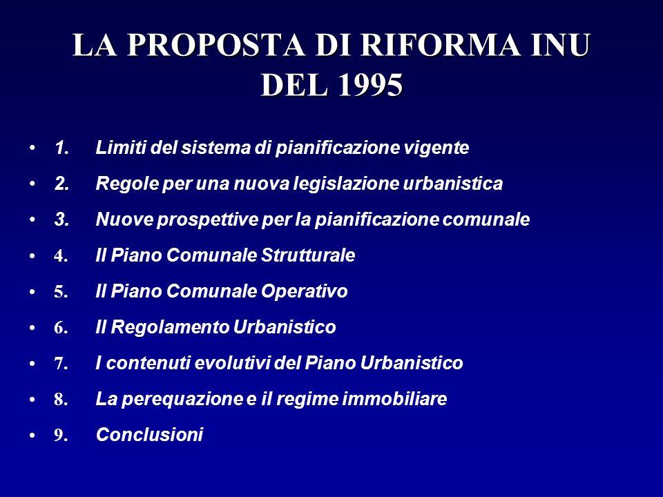 LA PROPOSTA DI RIFORMA INU DEL 1995