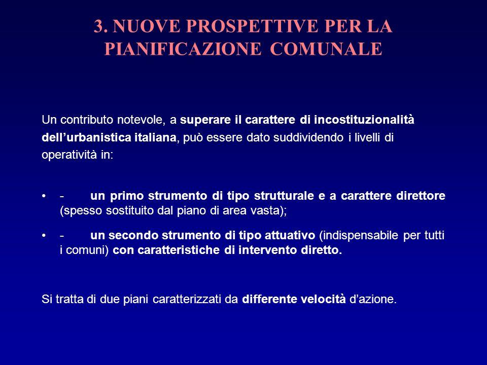 3. NUOVE PROSPETTIVE PER LA PIANIFICAZIONE COMUNALE