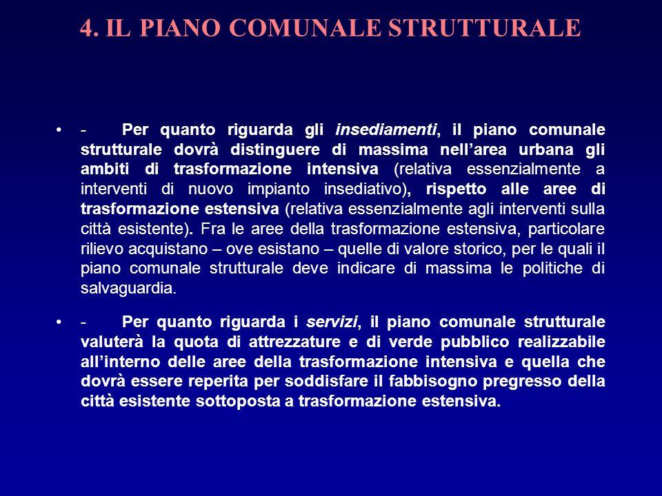 4. IL PIANO COMUNALE STRUTTURALE