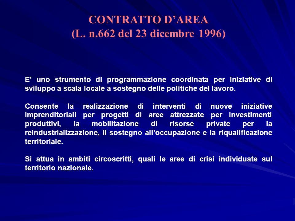 CONTRATTO D'AREA (L. n.662 del 23 dicembre 1996)