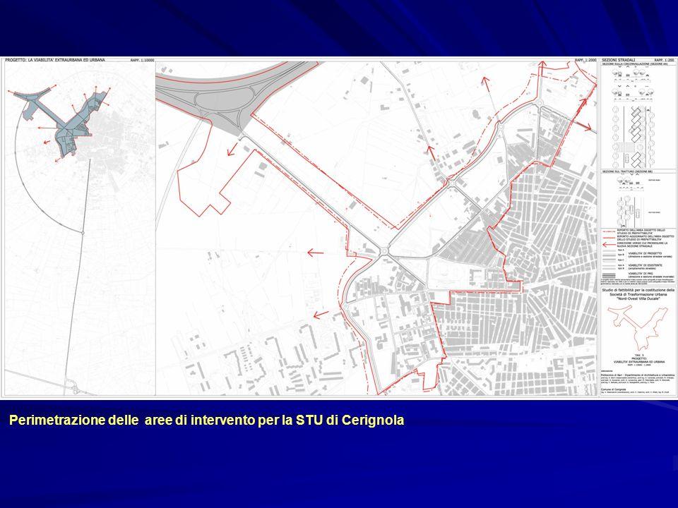 Perimetrazione delle aree di intervento per la STU di Cerignola