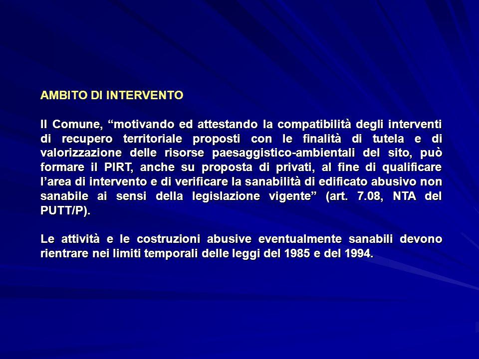 AMBITO DI INTERVENTO