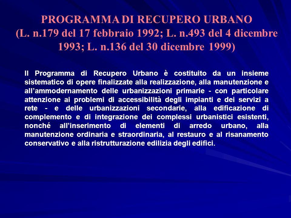 PROGRAMMA DI RECUPERO URBANO