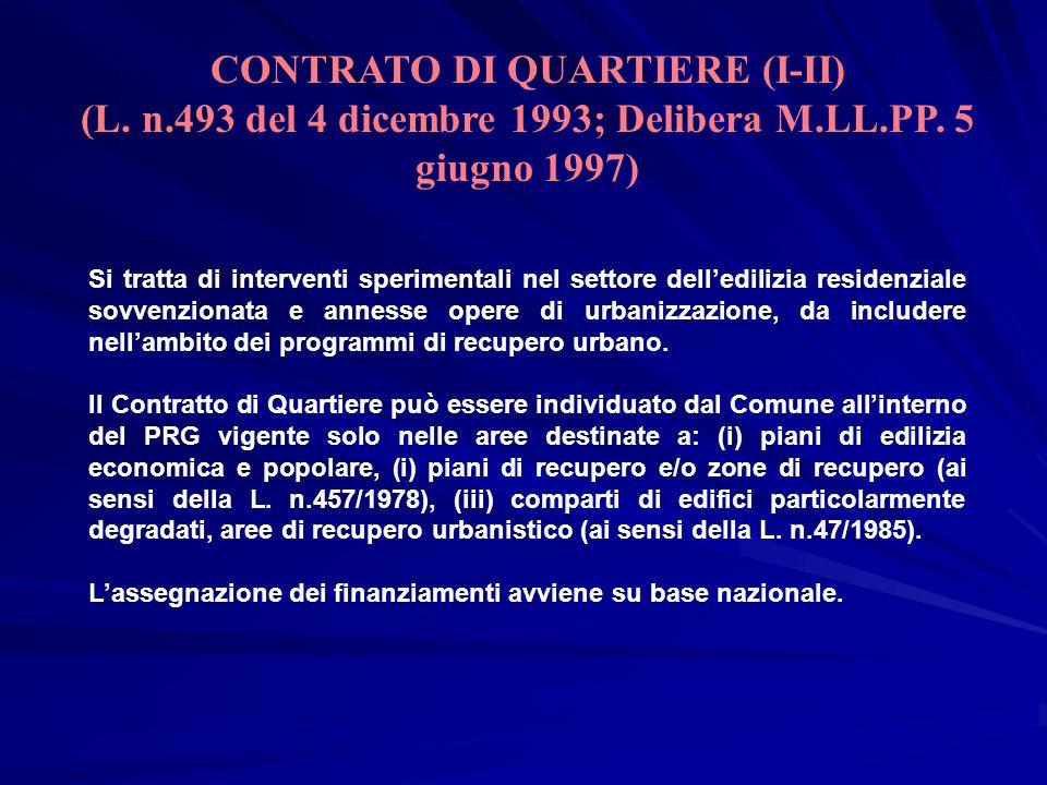 CONTRATO DI QUARTIERE (I-II)