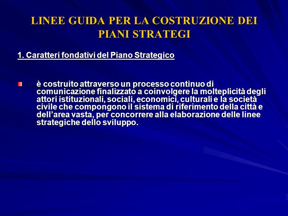 LINEE GUIDA PER LA COSTRUZIONE DEI PIANI STRATEGI