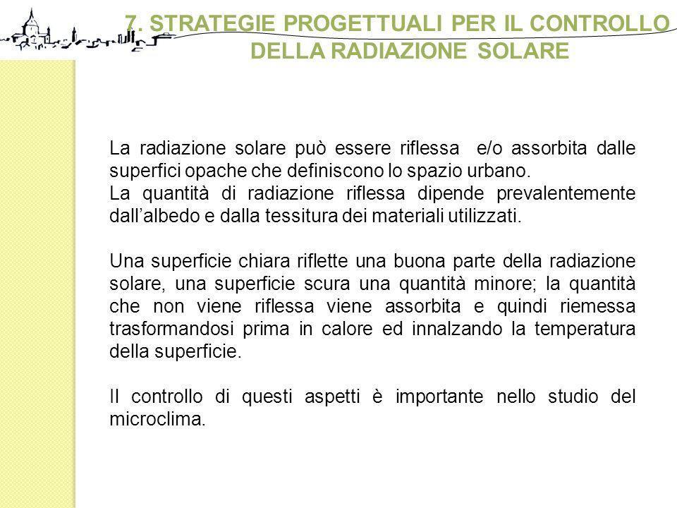 7. STRATEGIE PROGETTUALI PER IL CONTROLLO DELLA RADIAZIONE SOLARE