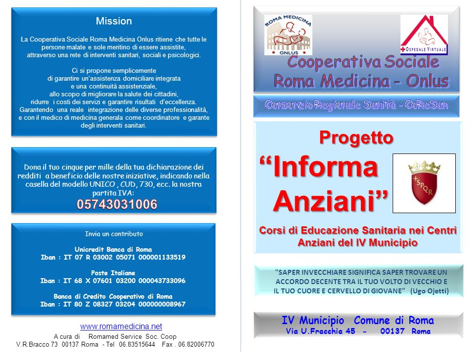 Informa Anziani Progetto 05743031006 Mission