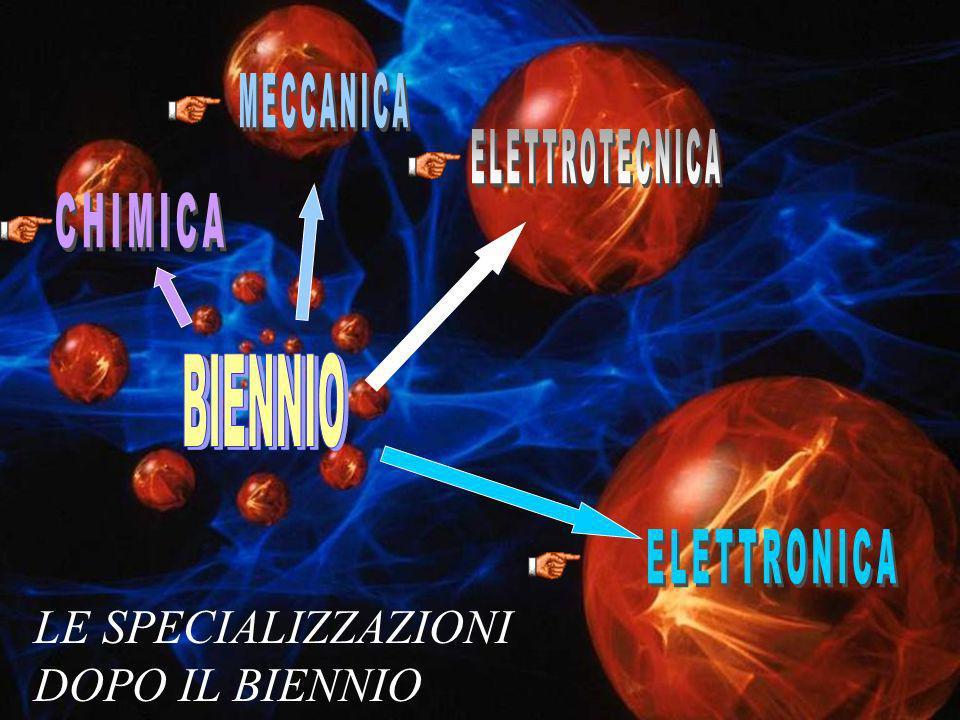 MECCANICA ELETTROTECNICA CHIMICA BIENNIO ELETTRONICA LE SPECIALIZZAZIONI DOPO IL BIENNIO