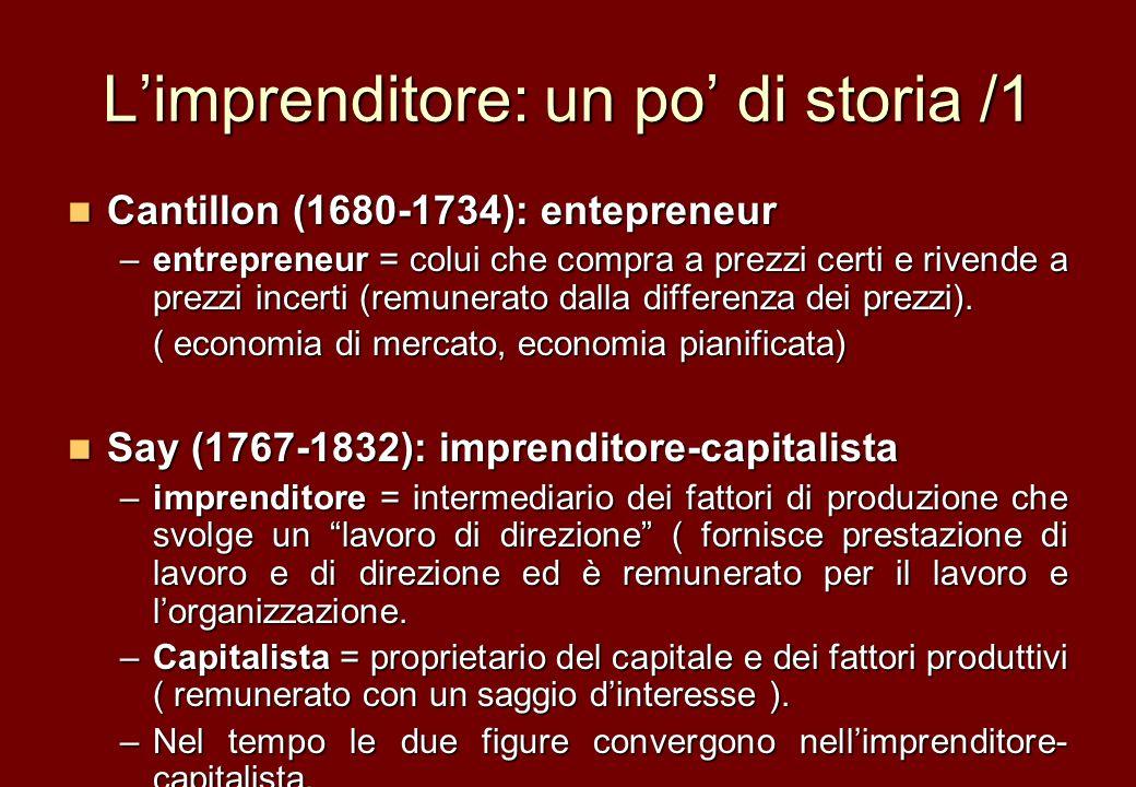 L'imprenditore: un po' di storia /1
