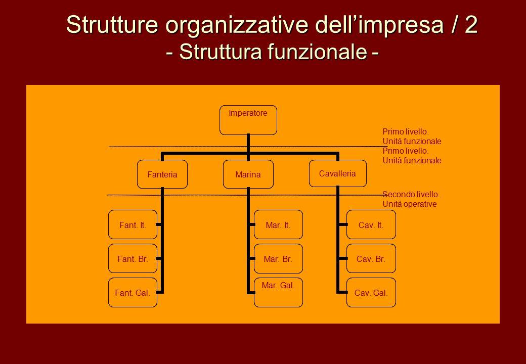 Strutture organizzative dell'impresa / 2 - Struttura funzionale -
