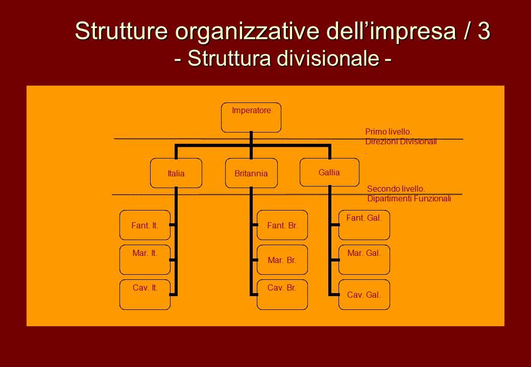 Strutture organizzative dell'impresa / 3 - Struttura divisionale -