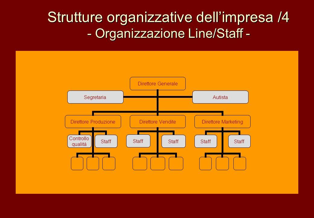 Strutture organizzative dell'impresa /4
