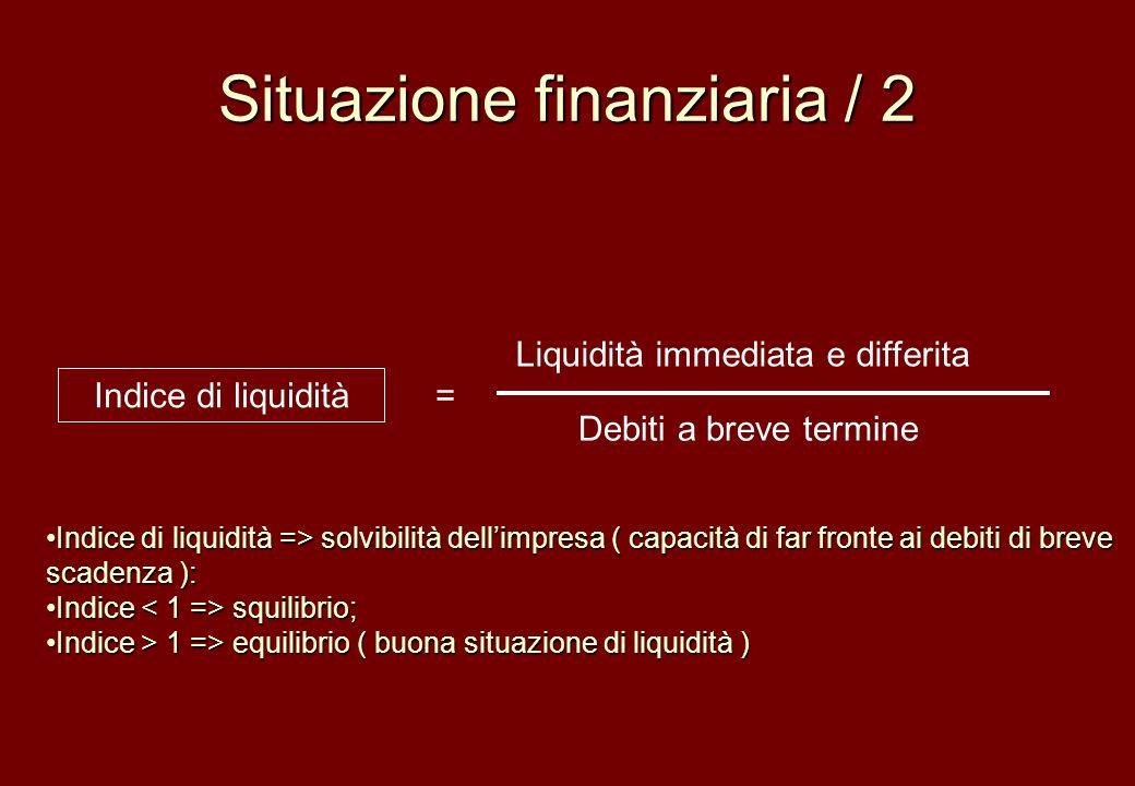 Situazione finanziaria / 2